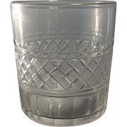 Exceptionally Large 18th c. Flint Glass Whiskey Tumbler