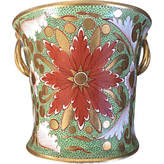Antique Early 19th century English Regency Davenport Porcelain Bough Pot Planter Vase with Imari Decoration