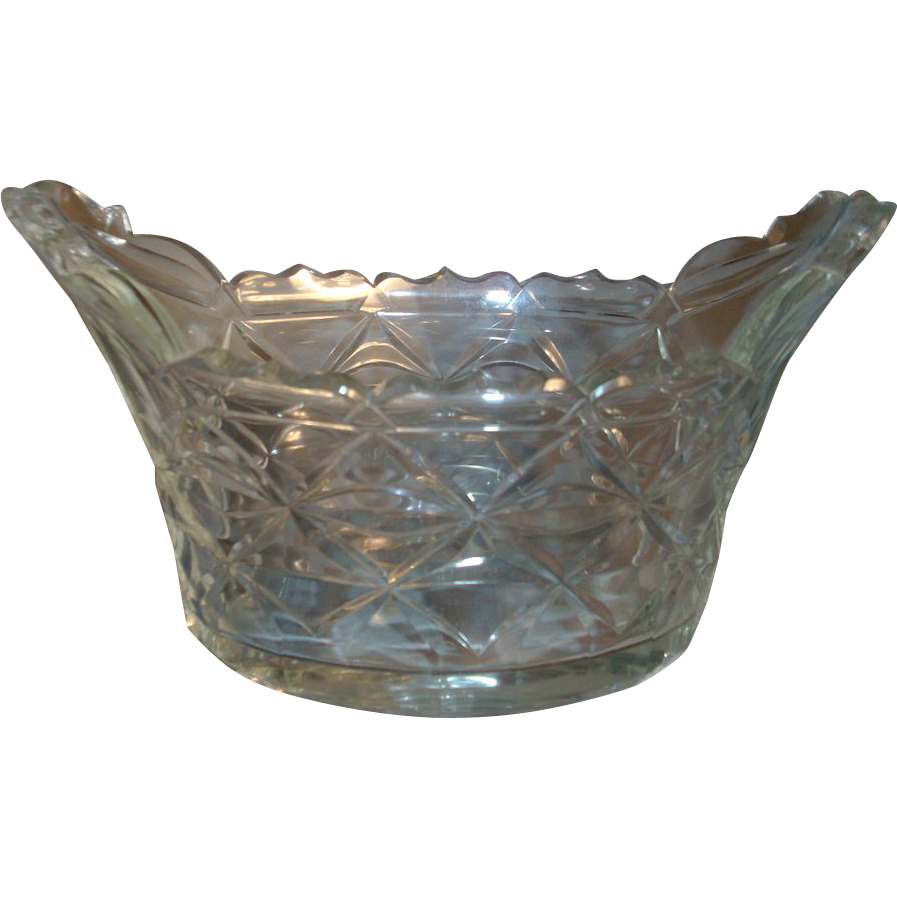 18th c. Georgian Anglo Irish Lead Crystal  Cut Glass Compote Centerpiece 1790