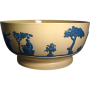 Early 19th c. Wedgwood Etruria Drabware Bowl in Jasperware Style