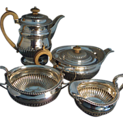 Early 19th c. Regency Sterling Silver Tea and Coffee Service by William Edwards 1812