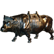 Early 19th century French Bronze Model of a Pack Ox or Bull