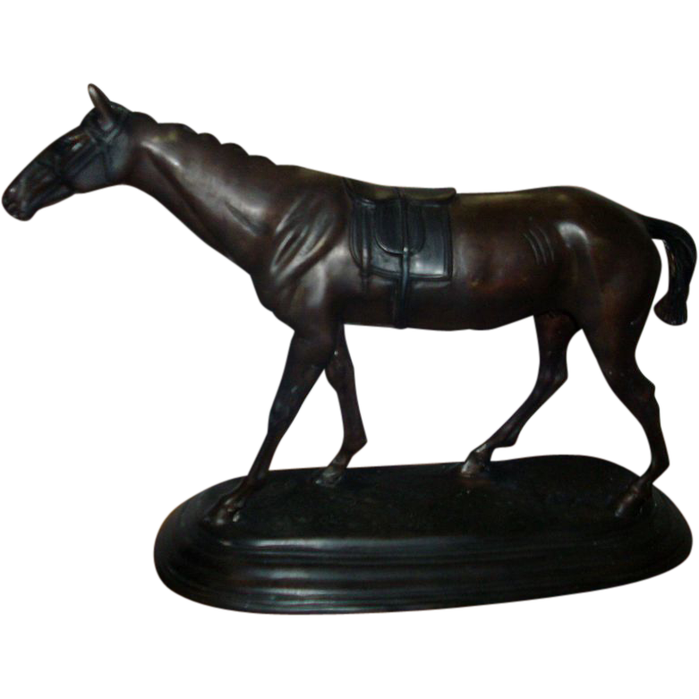 Fine 19th c. Pierre Jules Mene (French, 1810-1879) Bronze Model of a Thoroughbred Horse