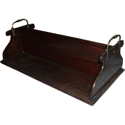 Rare Georgian Mahogany Library Book Caddy for Partner's Desk - George III c. 1800