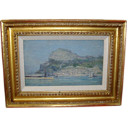 Early 20th century Oil Painting on Board by Wells Moses Sawyer of Gibraltar