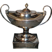 Fine 18th c. - circa 1790 - Old Sheffield Silver on Copper Tea Caddy Urn - Golf Trophy 1931