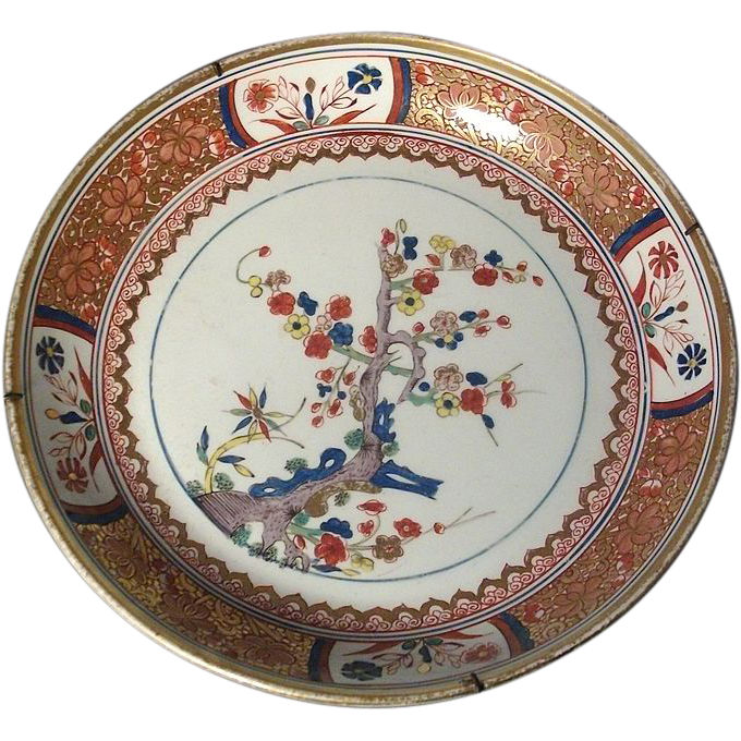 Antique Large 19th century Spode Imari Porcelain 282 Kakiemon Bowl - 1810