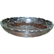 18th century Anglo Irish Oval Glass Centerpiece Bowl