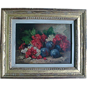 19th century Oil Painting on Board of a Fruit Still Life