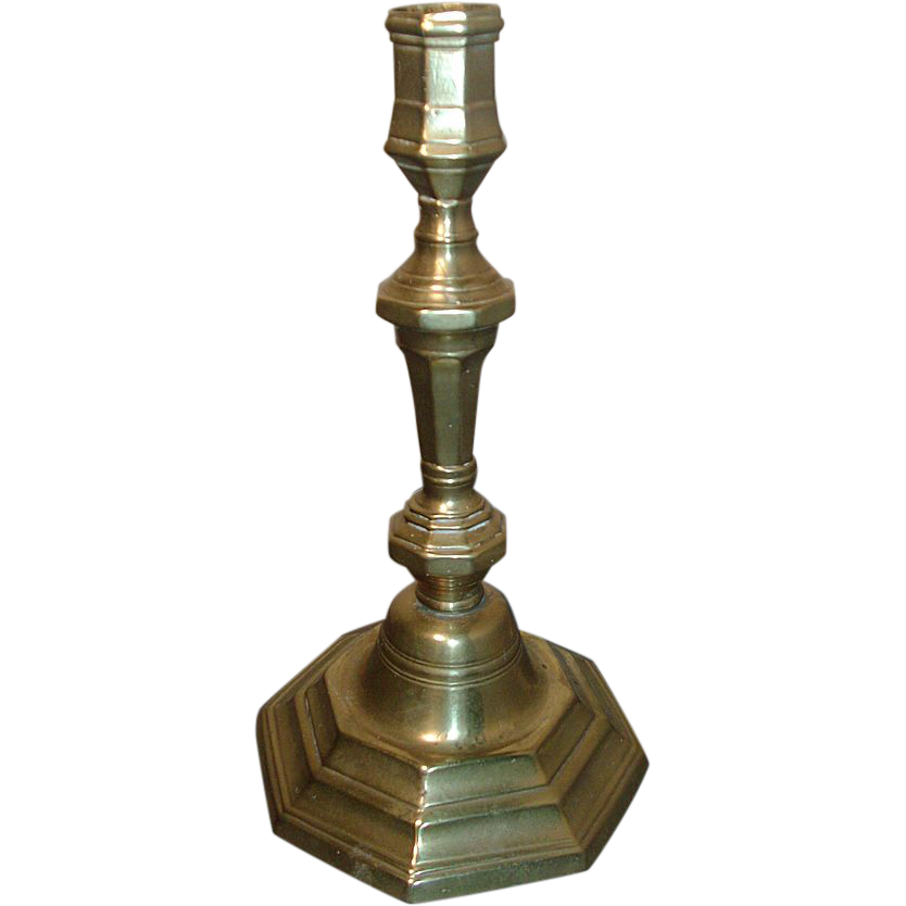 18th century French Brass Candlestick