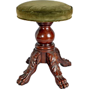 Early 19th century American New York Classical Mahogany Empire Stool