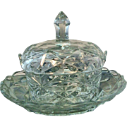 Antique 19th century Anglo Irish Cut Glass Crystal Tureen, Cover & Under Tray