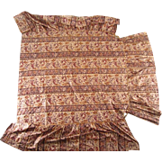 Fine and Early 19th century Printed Silk American Coverlet