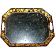 Antique 19th century Tole Tray with Gilt Penwork 1810