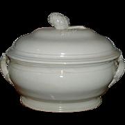 Fine Antique 18th century Pont-Aux-Choux Creamware Soup Tureen
