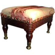 Federal 19th c. Duncan Phyfe Classical Mahogany Stool New York City 1810