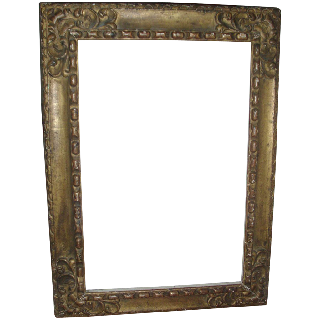 Large Vintage Carved and Gilt Wood Rococo Mirror in the Spanish Taste