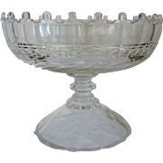 Antique 19th century Anglo Irish Cut Glass Crystal Compote