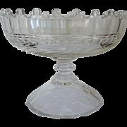 Fine Antique 19th century Anglo Irish Cut Glass Compote