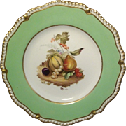Antique 19th century English Regency Chamberlain's Worcester Porcelain Plate with Fruit Decoration