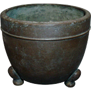Antique 19th century Chinese Bronze Footed Censer