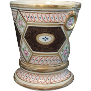 Antique Early 19th century Coalport Porcelain Root Pot or Cachepot in the Church Gresley Pattern