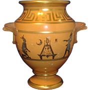 Antique Early 19th century Coalport Porcelain Classical Urn or Vase with Egyptian Hieroglyphics 1810