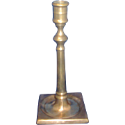 18th century English Brass Candlestick