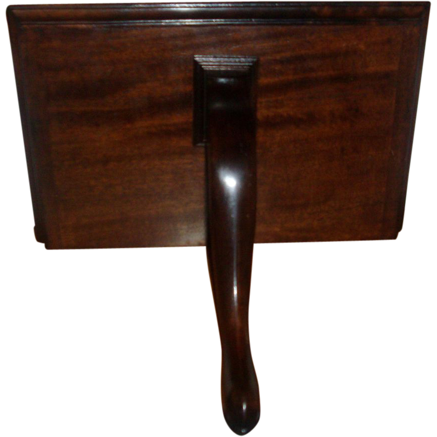 antique early 19th century george iii mahogany wall bracket clock shelf