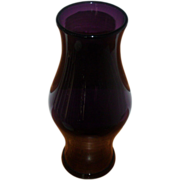 Large Antique 19th century Amethyst Blown Glass Hurricane Candle Shade