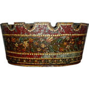 Early 19th century French Tole Monteith Planter Cachepot with Original Paint Decorated Surface