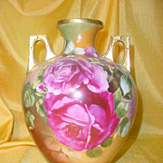Royal Austria Vase ptd. w/ Roses by the D'ARCY Studio...