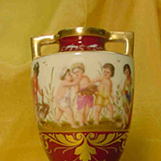 Royal Vienna 'Children' Bacchanalia Vase