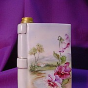 Stunning Limoges Book Decanter...Hd. Pdt. Landscape Scene