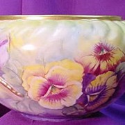 Fabulous HP Willets Belleek Bowl...Lizard Handles