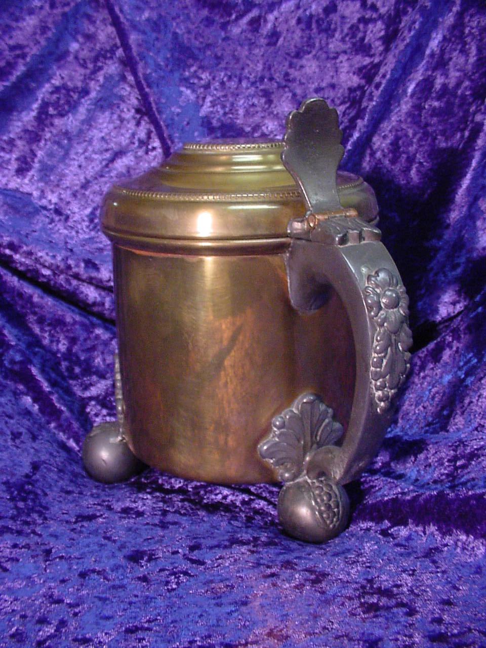 Large/Heavy Brass Mug with Feet...