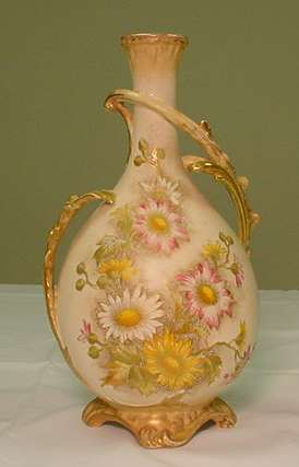 Lg. Royal Bonn Vase Painted w/ Flowers...