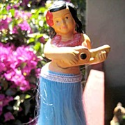 Hula Doll Bobble Figurine From Hawaii