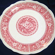 Syracuse China Restaurant Ware Dinner Plate, 10 Inches, Strawberry Hill