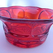 Ruby Red Fostoria Glass Bowl - Henry Ford Museum Marked