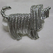 "Vintage Sarah Coventry ""Shaggy Dog"" Silver-tone Pin"
