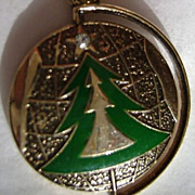 1979 Christmas Limited Edition Sarah Coventry Enamel and Rhinestone Charm