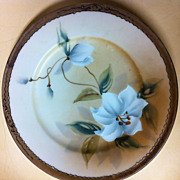 6 inch Jonroth Nippon Hand-painted Iris Floral Plate