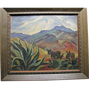 "Ila McAfee Oil Painting, ""Down Mexico Way"""