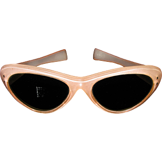 Original Vintage 1950s-60s Pink ladies Italian Cat Eye Sunglasses
