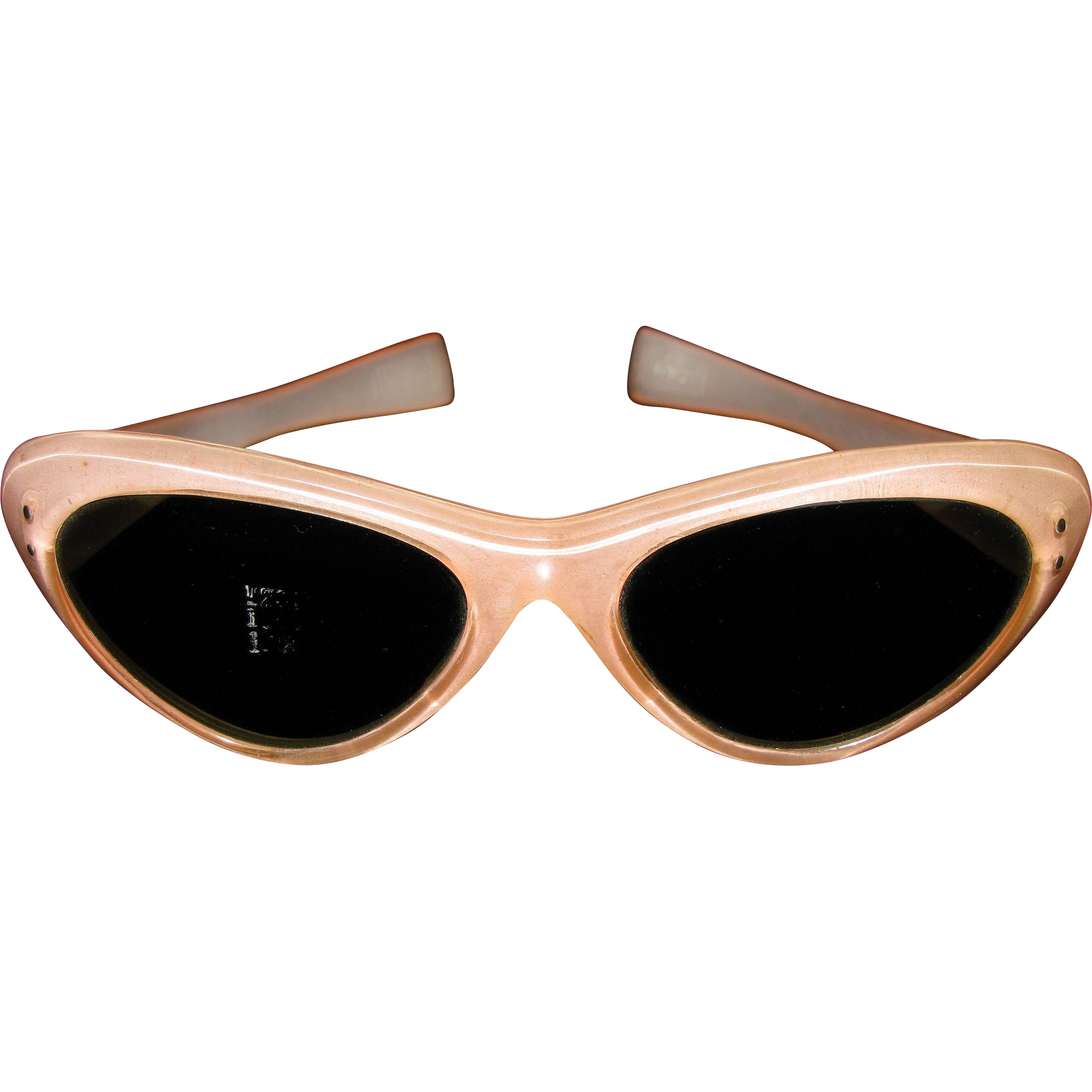 Original Vintage 1950s-60s Pink ladies Italian Cat Eye Sunglasses