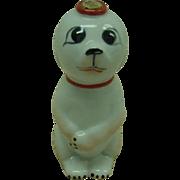 Garnier Porcelain Dog Flask France