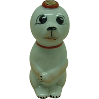 Garnier Porcelain Dog Flask France