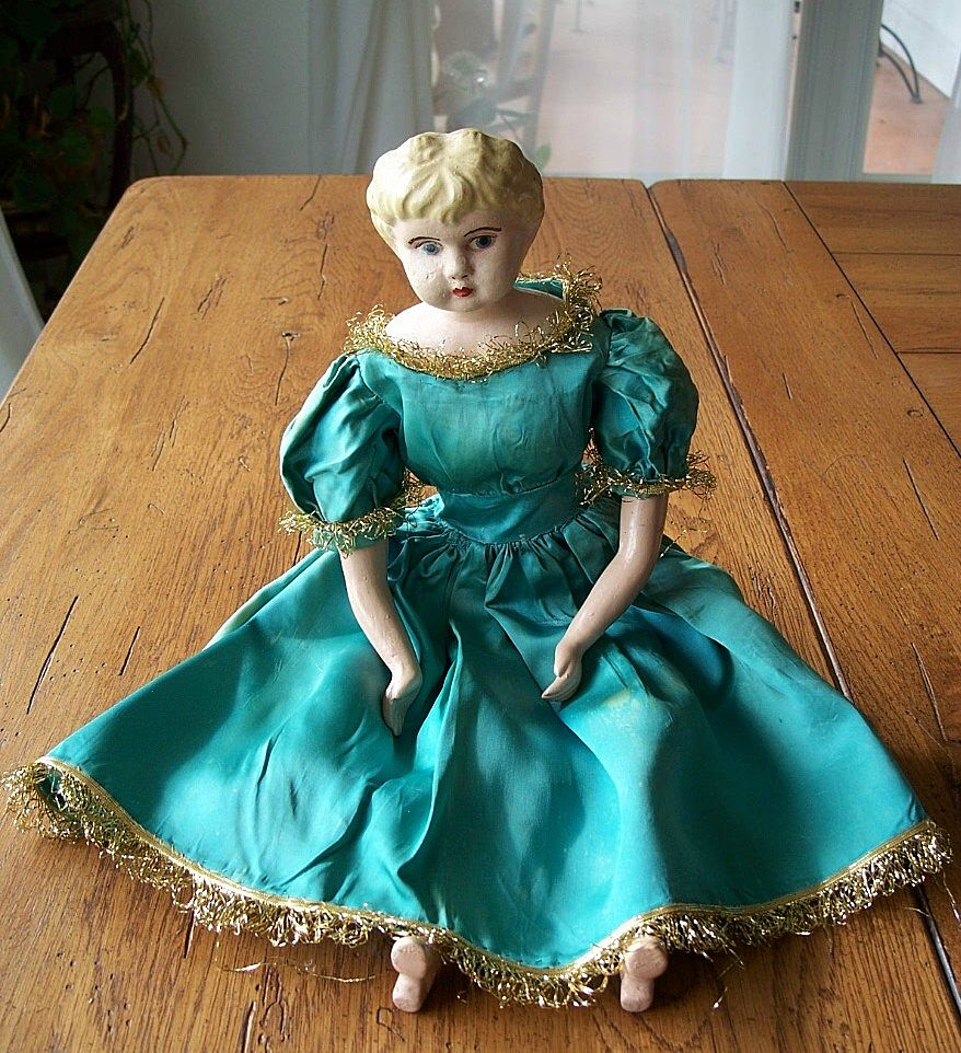 German Tin Head Doll Minerva