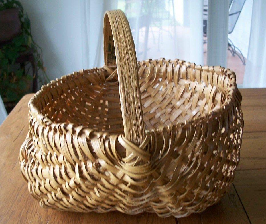 North Carolina Handwoven Buttocks Basket